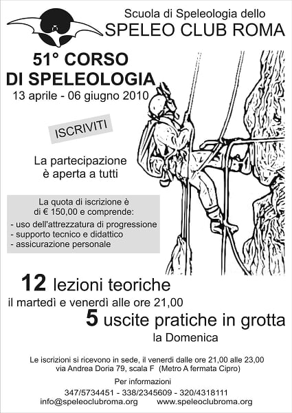 corso speleo roma